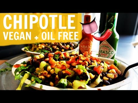 How To Order VEGAN At Chipotle [WSLF + Oil Free + Gluten Free]