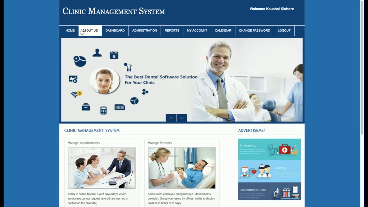 clinic management system php