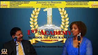 1st Academy School of Insurance Podcast w/ Lisa McCombs interview Ram Subramanian
