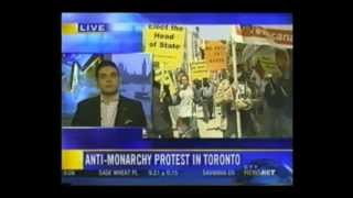 Anti-Monarchy Protest by Citizens for a Canadian Republic