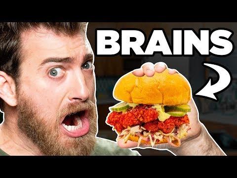 Nashville Hot Brains Sandwich Taste Test | FOOD FEARS