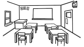 how to draw a class room for kids