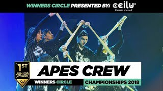 Apes Crew | 1st place Junior Div | Winners Circle | World of Dance Championships 2018 | #WODCHAMPS18