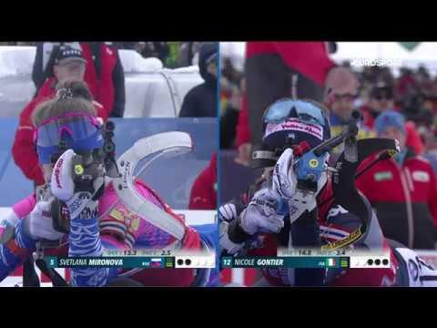 Сборная России взяла серебро в женской эстафете на этапе в Хохфильцене