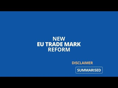 New EU Trade Mark Reform: changes applying from 1 October 2017