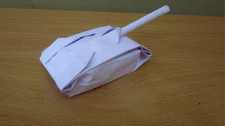 how to make a tank of paper with your own hands