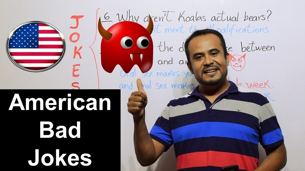 CHISTES MALOS EN INGLES AMERICAN BAD JOKES