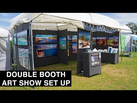 How To Set Up An Art Show Booth In 60 Seconds!