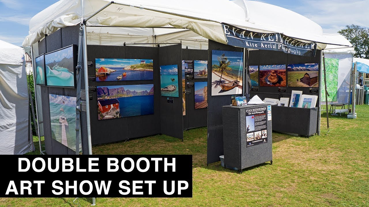 How to set up an art show booth in 60 seconds youtube for How to set up a booth at a craft show