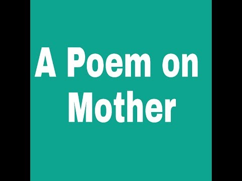 A Poem on Mothers Day in English