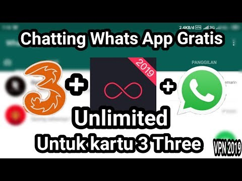 PART 2: 2019 Cara Chatting WhatsApp Gratis Unlimited Khusus Kartu3 Three No Kuota+pulsa+paket Chat