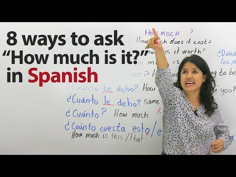 Learn Travel Spanish: How to ask for prices
