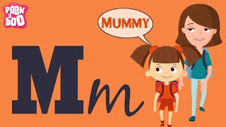 The M Song | Learn Alphabets A - Z | English Songs And Rhymes For Kids | Peekaboo