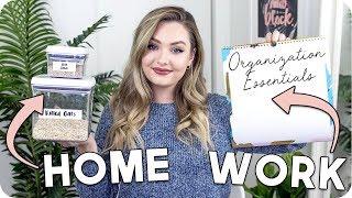 2018 Organization Essentials for School, Work + Home!