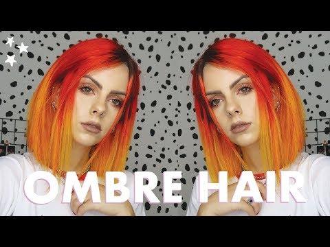 DIY OMBRE HAIR DYE - Orange Into Yellow!