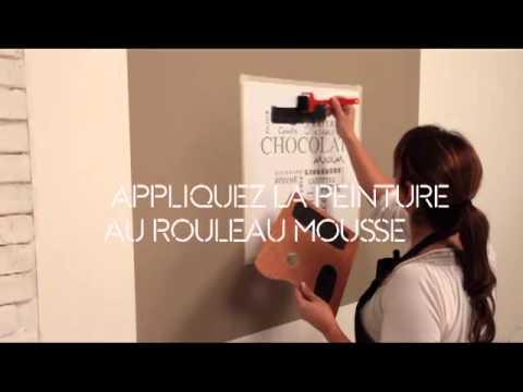 Maison déco - Application pochoir peinture lisse - YouTube