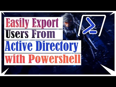 Easily Export Users From Active Directory OU With Powershell |  Windows Server 2012 R2 / 2016