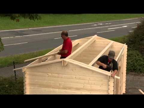 verlegung von dachschindeln karibu gartenh user doovi. Black Bedroom Furniture Sets. Home Design Ideas