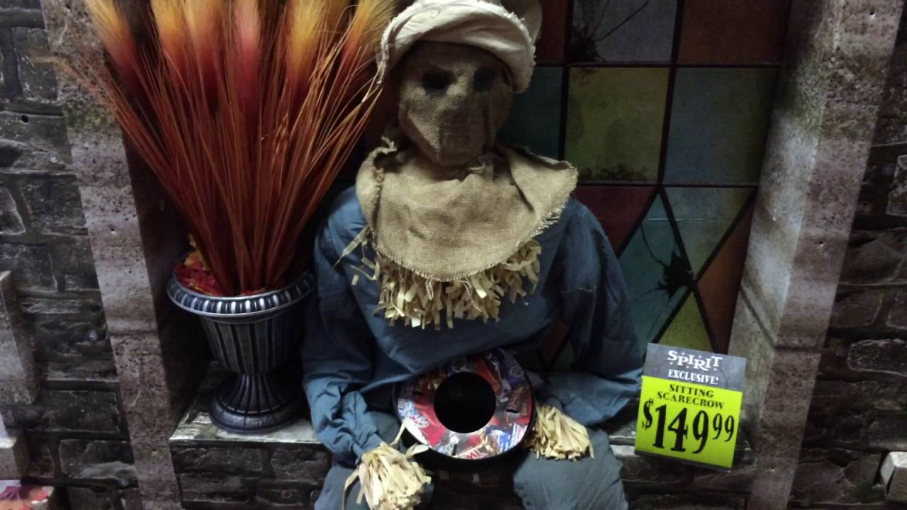 spirit halloween 2016 sitting scarecrow - Spirit Halloween 2016