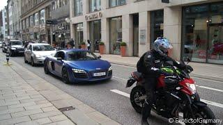 Audi R8 V10 vs. Bikers Rev Battle Busted By Police!
