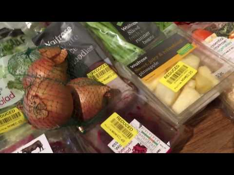 Vlogmas Day 23 Bonus Video. Waitrose Yellow Sticker Food Shopping Haul