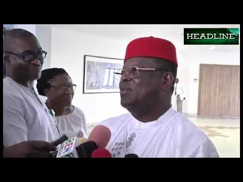 2019: See The Moment PDP Governor, Umahi, Endorsed Buhari For Second Term (Must Watch Video)