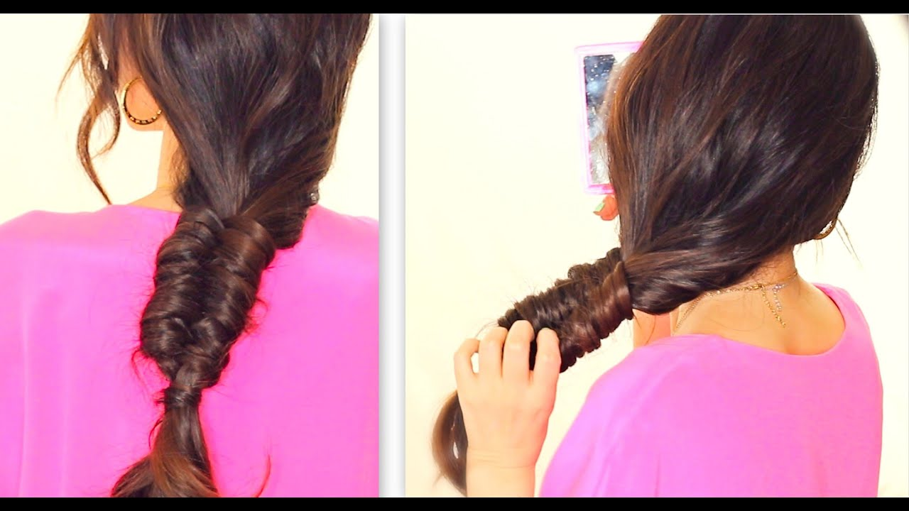 "☆ ""STITCH"" FISHTAIL BRAID TUTORIAL"