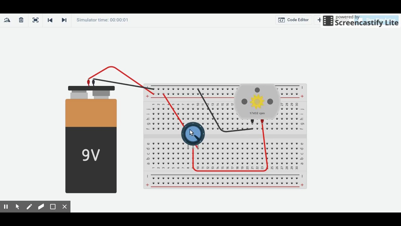 how to use a potentiometer to control the speed of a dc motor [ 1280 x 720 Pixel ]