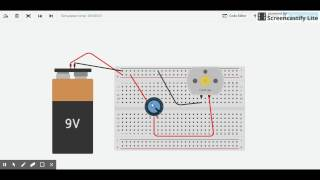 How to use a potentiometer to control the speed of a DC Motor