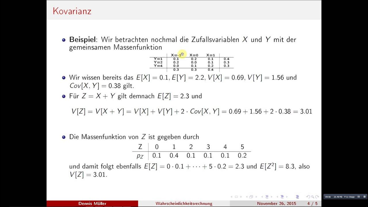Kovarianz Erklarung Formel Berechnung Mit Video 7