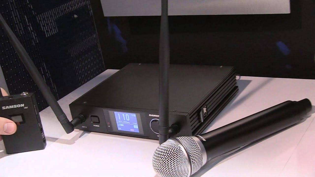 samson synth 7 uhf wireless system namm 2014 youtube. Black Bedroom Furniture Sets. Home Design Ideas