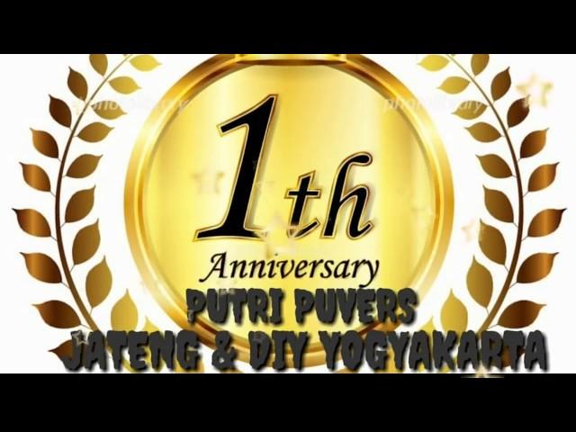 1th ANNIVERSARY  PUTRI PUVERS  JATENG & DIY YOGYAKARTA