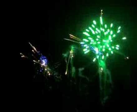 fuochi d' artificio a Pratolino in Villa Demidoff