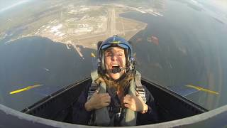 Judy McLane Blue Angels VIP Ride