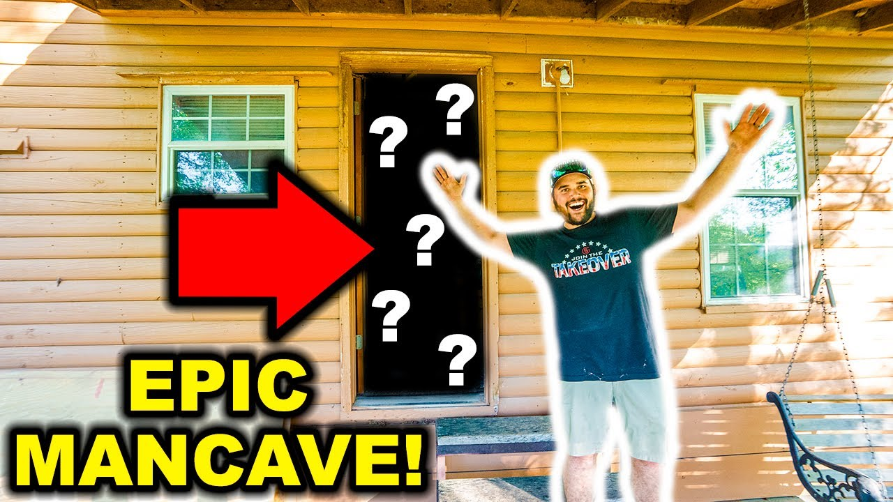 Turning My ABANDONED RANCH Cabin into the ULTIMATE MANCAVE!!
