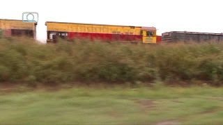 Seguimiento a tren de Belgrano Cargas y Logística rumbo a Alta Córdoba a 75 km/h