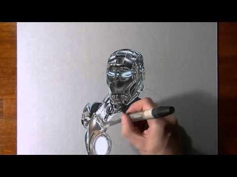 Рисуем. Железный человек.