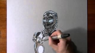 Рисуем. Железный человек.(Гипер-реализм. Как нарисовать Железного человека., 2014-10-03T19:07:03.000Z)