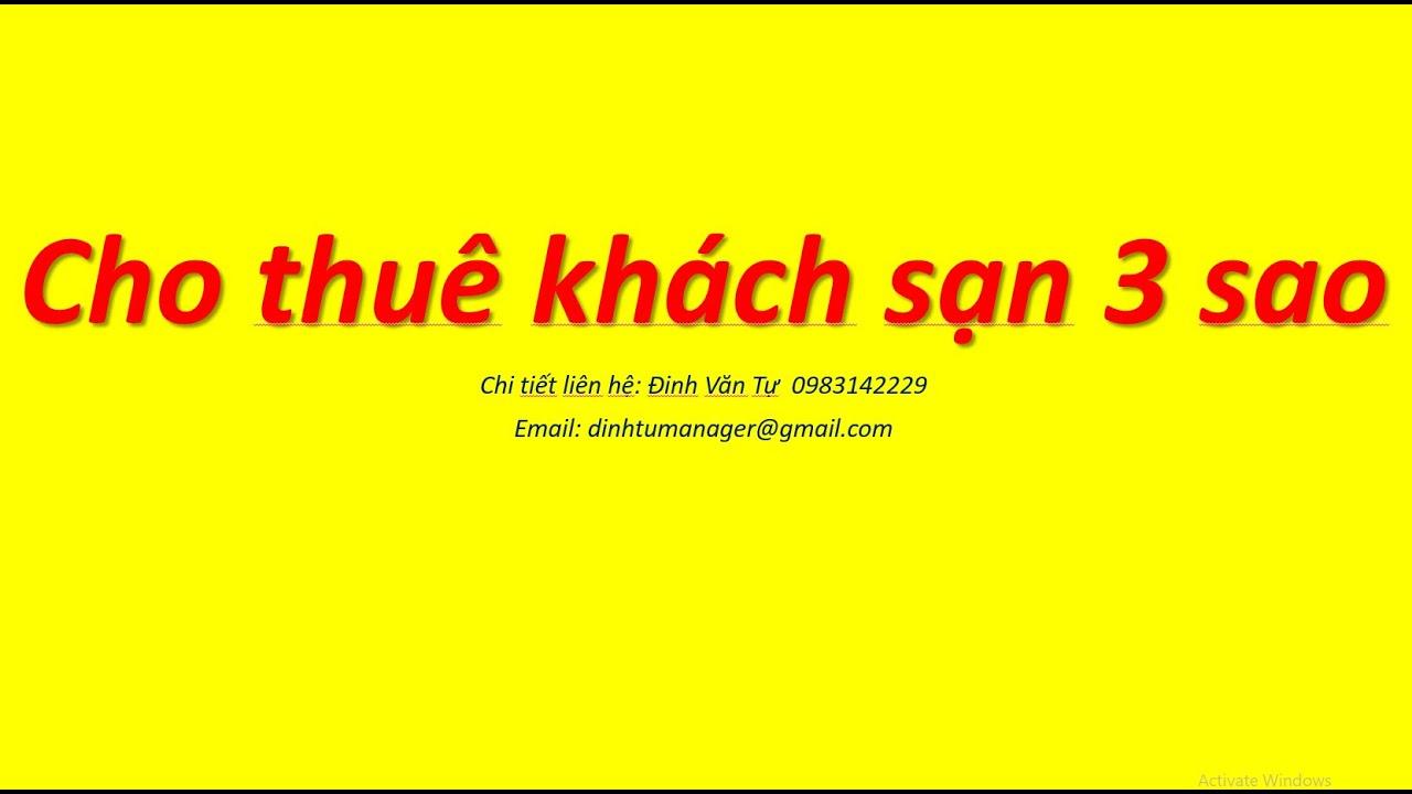Cho thuê khách sạn 3 sao đường Bùi Thị Xuân quận 1 tp HCM