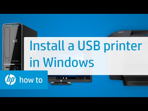 Installing an HP Printer in Windows Using a USB Cable | HP Printers