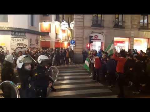 Manifestación antifascista en Granada por el auge de VOX