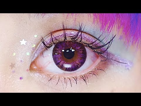 100 yen makeup Haruka Kurebayashi (with English Sub) ドリーミーな宇宙をイメージ!100均コスメを使ったカラフルメイク!【紅林大空】