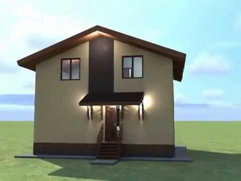 Каменный дом 7*8 с мансардой