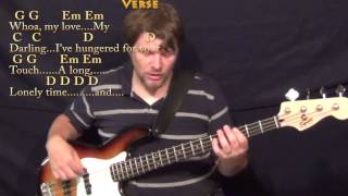 Unchained Melody - Bass Guitar Cover Lesson in G with Chords/Lyrics
