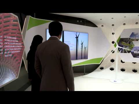 GE ecomagination Center Masdar City & Madinati City interactive table