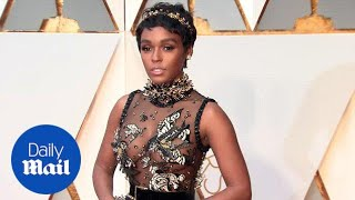 Janelle Monae rocks a stunning see-through dress to the Oscars - Daily Mail
