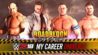 WWE 2K18 My Career Universe - FATAL FOUR WAY!! TITLE ON THE LINE!!