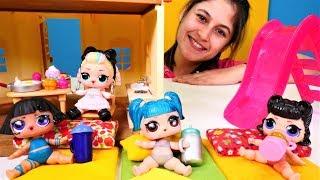 Ayşe LOL oyuncak bebekler için havuz yapıyor
