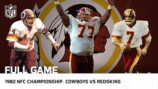 Cowboys vs. Redskins 1982 NFC Championship | NFL Full Game