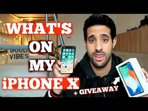 WHAT's ON MY iPHONE X + Apple iPhone X VERLOSUNG! | Sami Slimani